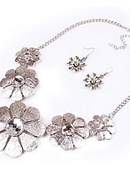 Miss Women's Fashion Temperament Elegance Statement Gem All Match Flower Necklace