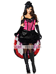 Gothic Magician Black and Red Women's Masquerade Costume