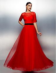 Vestido - Vinho Linha-A Jóia Longo Chiffon