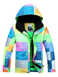 Men's Ski Ski/Snowboard Jackets Waterproof / Breathable / Wearable / Windproof / Thermal / Warm Green / Blue / OthersSkiing / Camping &