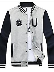 RXHX  Men's Stand Collar Thermal Korean Style Overcoat