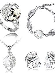 cristal boucles d'oreilles de la SNA Bracelet femme 4pcs collier Set