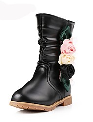 Girls' Shoes Fashion Boots Flat Heel Mid-Calf Boots with Flower More Colors available