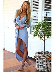Eoeane Women's Fashion Charm V-Neck Long Sleeve Dress