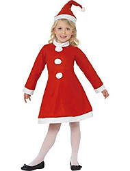 Little Miss Santa Dress Kids Christmas Costume
