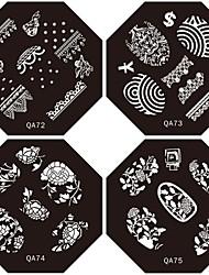 1pc nouveau design ongles estampage images plaques belle de plaque de la fleur de la mode pour le bricolage décorations de nail art (le dessin