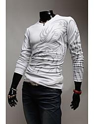 T-Shirts ( Coton mélangé ) Informel/Travail Rond à Manches longues
