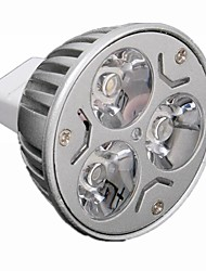 3W GU5.3(MR16) LED Spotlight MR16 3 High Power LED 330 lm Warm White / Cool White Dimmable DC 12 / AC 12 V