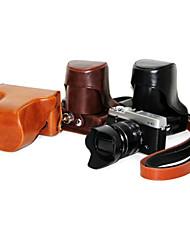 pu bolsa de couro da câmera para FUJIFILM x e1-x-e2