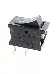 interruptor de 2 pinos on / off - preto (6a, ac 250v / 10a, ac 125V) (10pcs)