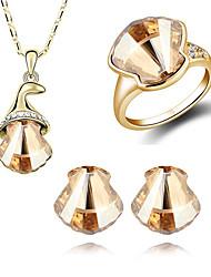 Les boucles d'oreilles de la SNA femmes collier 4pcs ensemble
