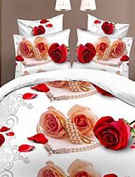 Duvet Cover Set,High Quality 3D Cotton Bedding 4pcs  Quilt Cover Sheets Pillowcase Single Double Bed Home Textiles
