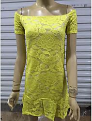 todo vestido de encaje estampado de flores a juego de los Cocos zhang mujeres
