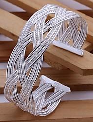 trombeta tecido prata net pulseira banhados