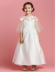 A-line Ankle-length Flower Girl Dress - Taffeta Sleeveless