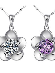 Women's Sterling Silver Jewelry Set Cubic Zirconia