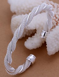 Twisted Wire Mesh Silver Plated Bracelet