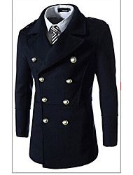 George Men's Foreign Trade Wholesale Joint Slim Double-breasted Windcoat