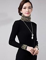 Frauen koreanische Spitzen Langarm fit Pullover Bodenbildung Pullover