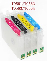 BLOOM® T0561/T0562/T0563/T0564 Refillable Ink Cartridge For EPSON Stylus Photo R250/RX430/RX530(4 color 1set)