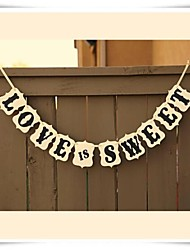 Wedding Décor Romantic LOVE IS SWEET  Bunting Banner Birthday Decoration Party Supplies Photo Booth Prop