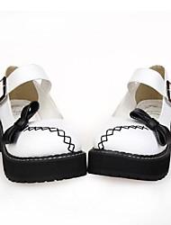 blanco pu 5cm de cuero zapatos del lolita punky plataforma