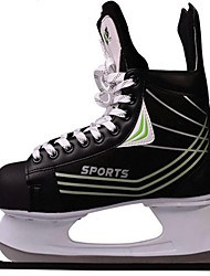 Ices Hockey Exceise Shoes Pu Leather Black -25C