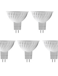 5 pcs H+LUX™ GU5.3 5 W 12 SMD 5730 350 LM Warm White MR16 Spot Lights DC 12/AC 12 V