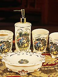 banho conjunto de acessórios, europeu kit prático lavagem presente de casamento jogo 5 peça