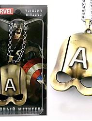 Capitão América mascarar colar acessório filme cosplay