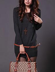 Medium - Langarm - Pullover - Baumwolle)