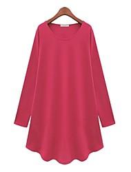 blk manica lunga collare rotondo misura modo loose causual magliette delle donne