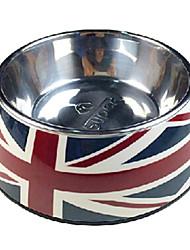 motif de drapeau national bol de nourriture en acier inoxydable pour animaux chiens