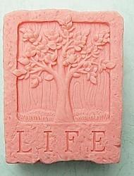 árvore de vida bolo fondant forma molde de silicone de chocolate