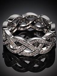 moda zircão placa de ouro anéis de instrução liga chicote das mulheres (1 pc)