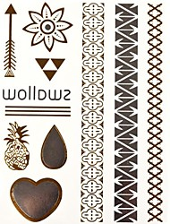 1PC Golden Temporary Tattoos Tattoo Stickers Gold Glitter Tattoos New Jewelry Trend for Body Art(27*14.5*0.1)