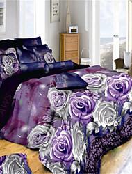 viminvon 3d Mode Aktivität komfortable vier Stücke Bettwäsche