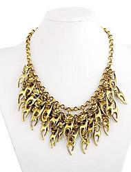 Women's Vintage Multi-level Tassels Alloy Necklace