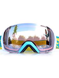 arena basto marco de plata verde gafas de nieve esquí sensor