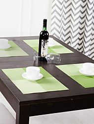 Set of 4 Yellow-green Matts Placemats,PP,30*40cm(12*16 inch)