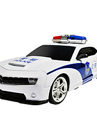 Aiqinqin QQ4YC2K RC Car Oversized Steering Wheel Remote Control Electric Police Toy Car with Light Sound