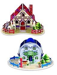3D DIY творческая мини-дом построить собрать комплект учебных пособий игрушки Puzzle головоломки игры для детей детей