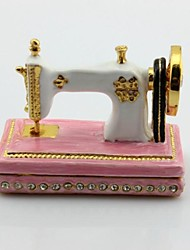 Sewing Machine Crystals Jewellery Jewel Trinket Box