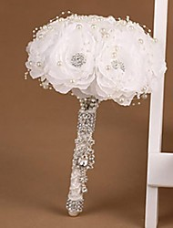 bouquet de mariée tout blanc avec strass