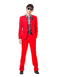 roter Feststoff slim fit Smoking in Polyester