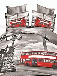 conjunto funda nórdica, la venta de ropa de cama caliente 3d establece edredón reversible sábana cubierta juego de cama en una bolsa con