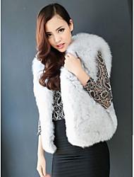 chaleco de zorro de la piel de piel entera abrigos de piel de las mujeres (más colores)
