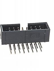 16-pin semplici corna ago curvo distanza tra i sedili 2,54 millimetri (10pcs)