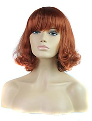 Capless High Quality Short Curly Synthetic Full Bang Wig