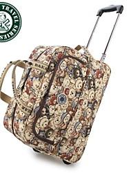 cuero genuino bolso marinero de viaje de 20 pulgadas de moda para mujer Daka Bear® gimnasio durante la noche maleta de equipaje